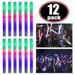 Upgraded Light up Foam Sticks, 3 Modes Colorful Flashing LED Strobe  $9.99 (REG $29.99)