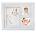 Baby Handprint Kit & Footprint Photo Frame for Newborn Girls and Boys $21.98 (REG $39.68)