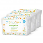 Babyganics Baby Wipes, Unscented, 100 ct, 3 Pack, Packaging May Vary $11.99 (REG $19.99)