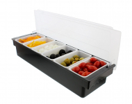 Ice Cooled Condiment Serving Container Chilled Garnish Tray Bar Caddy $26.49 (REG $60.41)