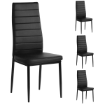 Kitchen Chairs Set of 4 Dining Chair Black  $78.98 (REG $135.00)