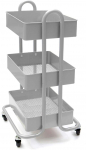 Mind Reader 3 Tier All Purpose Utility Cart, Heavy Duty, Silver $21.94 (REG $69.99)
