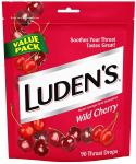 Luden's Wild Cherry Throat Drops | Deliciously Soothing | 90 Drops | Pack of 1 $4.26 (REG $7.00)