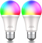 Smart Light Bulbs-2 Pack, Color Changing Compatible with Alexa, Echo, Google Home, and IFTTT (40% Off)