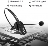 LIMITED TIME DEAL!!! Bluetooth Headset V5.0, Pro Wireless Headset$24.19 (REG $59.99)