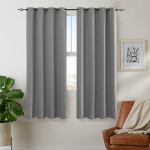 jinchan Faux Linen Grommet Room Darkening Curtains $13.17 (REG $26.99)