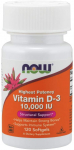 NOW Supplements, Vitamin D-3 10,000 IU, Highest Potency, Structural Support*, 120 Softgels $7.64 (REG $16.99)
