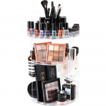 360 Degree Spining Makeup Storage Box Display Stand Adjustable Tray $23.99 (REG $59.99)