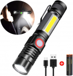 Rechargeable Flashlight, Spriak Magnetic Flashlights with Clip (Included Battery) $11.99 (REG $25.99)