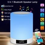 Bluetooth Speaker Lamp Lighting with Clock$29.99(REG $79.99)