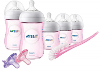 Philips Avent Natural Baby Bottle Pink Gift Set, SCD206/11 $26.99 (REG $54.99)