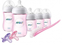 Philips Avent Natural Baby Bottle Pink Gift Set, SCD206/11 $29.70 (REG $54.99)
