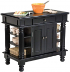 Americana Black Kitchen Island with Open Shelving by Home Styles $261.15 (REG $639.99)