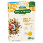 Cascadian Farm Organic Granola, Oats and Honey Cereal, 16 oz (Pack of 6) $17.28 (REG $26.55)