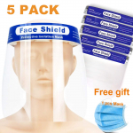 Disposable Face Shield Safety Clear 5PCS Plastic Full Face Cover Mask $19.99 (REG $39.99)