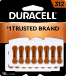 Duracell 312 Hearing Aid Batteries, 16 Count $9.96 (REG $24.00)