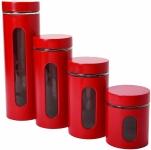 Anchor Hocking Palladian Window Cylinder Jars, Mixed Sizes, Cherry, Set of 4$16.90 (REG $26.81)