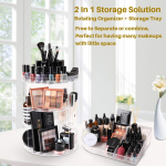 SUNFICON Rotating Makeup Organizer Detachable Makeup Storage Tray $29.99 (REG $49.99)