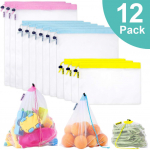 12PCs Reusable Mesh Produce Bags $9.99 (REG $19.99)