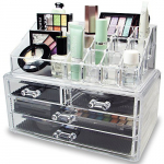 Acrylic Jewelry & Cosmetic Storage Display Boxes Two Pieces Set. $14.99 (REG $28.10)