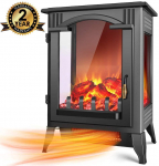 LIMITED TIME DEAL!!! 1500W / 750W Infrared Electric Fireplace Heater with 3D Flame Effect $93.49 (REG $169.99)