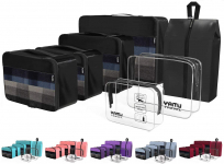 7-Pcs Travel Organizer Accessories with Shoe Bag and 2 Toiletry Bags(Black) $19.88 (REG $49.00)