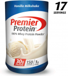 Premier Protein Whey Protein Powder, Vanilla, Packaging may Vary (17 Servings) $10.29 (REG $29.99)