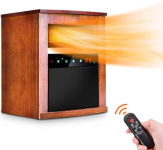 Electric Space Heater -1500W Infrared Heater w/ 3 Heat Settings, $110.49 (REG $299.99)