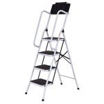 Non-Slip 4 Step Ladder with handrails and Tool Pouch Caddy 330lbs $69.99 (REG $129.99)