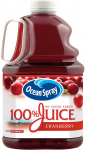 Ocean Spray 100% Juice, Cranberry, 3 Liter Bottle $4.51 (REG $9.59)