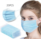 LIVINH 25Pcs Disposable Filter 3 Ply Earloop Comfort, Breathable Beauty Dust Mask $11.99 (REG $27.99)