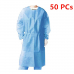 Isolation Gowns Knit Cuff One Size Fits, Splash Resistant, Medical Disposable 50 Pcs. $107.68 (REG $169.99)