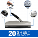 2-7 Hole Punch, LightTouch, 20 Sheets Punch Capacity (74030) $15.54 (REG $51.49)