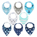 Baby Bibs 8 Pack Soft and Absorbent for Boys & Girls – Baby Bandana Drool Bibs$13.99 (REG $29.99)