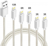 LIGHTNING DEAL!!! iPhone Charger 10FT Right Angle Long Lightning Cable $8.49 (REG $19.99)