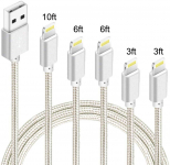 LIGHTNING DEAL!!! iPhone Charger 10FT Right Angle Long Lightning Cable$8.49 (REG $19.99)