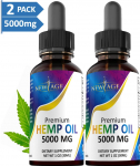 (2-Pack) 5000mg Hemp Oil Extract for Pain, Anxiety & Stress Relief – 5000mg $29.95 (REG $59.95)