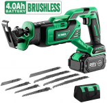LIGHTNING DEAL!!! KIMO 20V 4.0Ah Li-ion Brushless Cordless Reciprocating Saw $99.99 (REG $129.99)