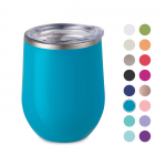 LIMITED TIME DEAL!!! Maars Drinkware Bev Steel Insulated Wine Glass Tumbler, 1 Pack, Aqua $8.18 (REG $24.99)