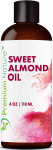 Sweet Almond Oil Carrier Oil – Cold Pressed Pure Natural Body Massage Oils $6.99 (REG $15.99)