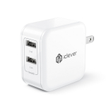 iClever BoostCube 4.8A 24W Dual USB Travel Wall Charger $10.98 (REG $24.99)