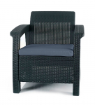 Armchair All Weather Outdoor Patio Garden Furniture with Cushions $79.99 (REG $139.99)