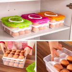 Whatyiu 1Pc Plastic 24 Grid Egg Container With Handle Food Organizer $8.00 (REG $32.97)