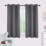 NICETOWN Grey Blackout Curtain Panels for Bedroom, Thermal Insulated Grommet Top $15.99 (REG $39.98)