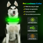 USB Rechargeable& Adjustable Glow in The Dark Led Pet Collar $8.62 (REG $29.99)