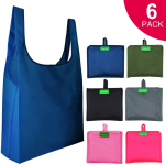 6 Pcs Reusable Grocery Bags, Heavy Duty Shopping Merchandise Bags $5.99 (REG $9.99)