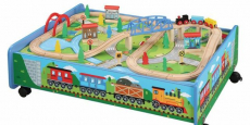 62-Piece Wooden Train Set + Table Only $46.50 Shipped! (Reg $76)