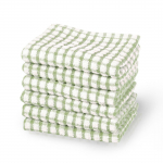 Terry Cotton Dish Cleaning Towels Green 6pcs $17.89(50% Off)