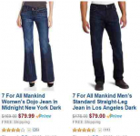 50% or more off of 7 for All Mankind Denim!