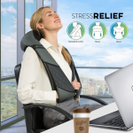 Massagers for Neck and Back with Heat – Deep Tissue 3D Kneading Pillow $59.95 (REG $119.99)